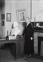 Cooper in parlor with Douglass bust
