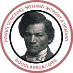 Design for stickers with the portrait of Frederick Douglass
